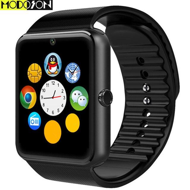 34633ba0af5 Relógio Inteligente GT08 MODOSON Empurre Mensagem Bluetooth Smartwatch  Relógio Horas Slot Para Cartão Sim Para ios