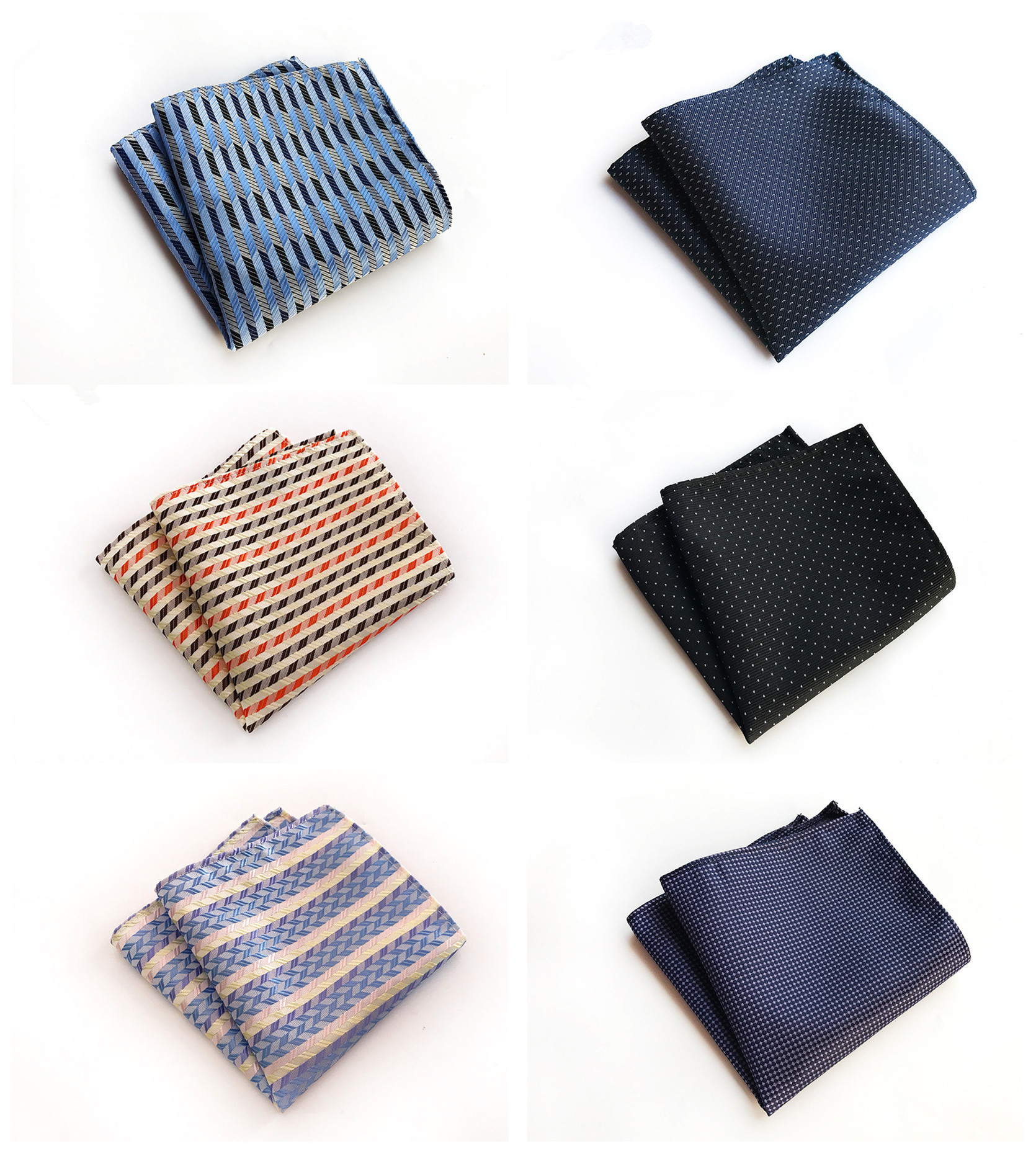 Fashion Explosions Business  Decoration Handkerchief Pocket Towel Unique Design Solid Color Dot 25x25cm Polyester Pocket Towel