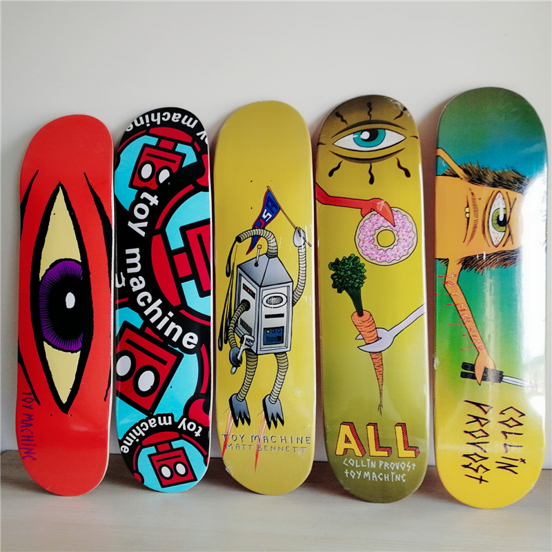NEW ARRIVED USA BRAND Skateboard Deck 8 inch Canadian Maple 7 layers Double Rocker Skateboarding Decks Patins Skate цена