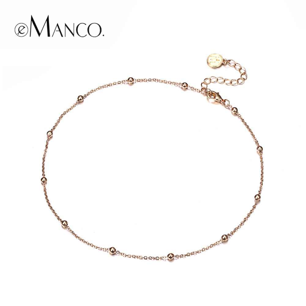eManco Wholesale Charming Chains Choker Necklace CCB Beads Making Golden Color New Arrivals Gifts for Women Fashion Jewelry