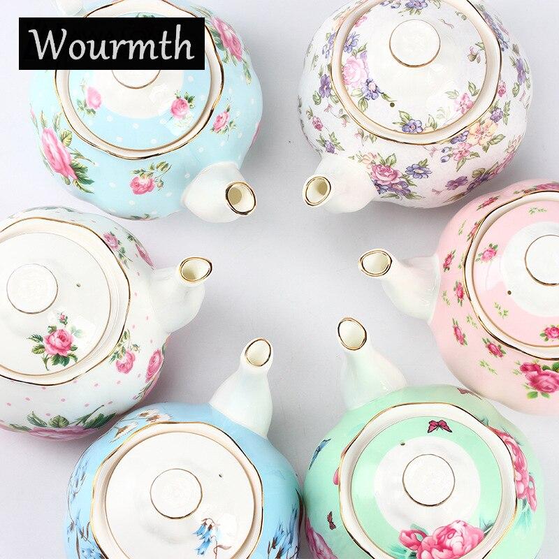 Wourmth 570 ML néerlandais Phnom Penh Coffeepot après-midi thé théière en céramique café bouilloire Style européen os porcelaine théière