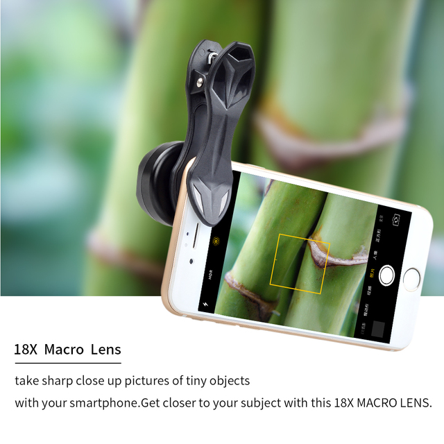 APEXEL Professional photography Macro Lens HD 18X macro mobile phone lens for iPhone 6 7 Xiaomi Android IOS smartphone HD18X 3