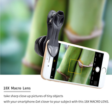 APEXEL Professsional Photography Macro Lens HD 18X Macro Lens for Smartphone