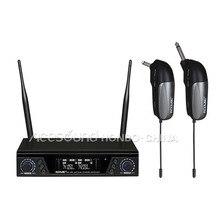 Wireless Guitar System Dual Kanäle Professionelle gitarre bass drahtlose mikrofon True diversity IR Sync ACEMIC EX-200/GT-1