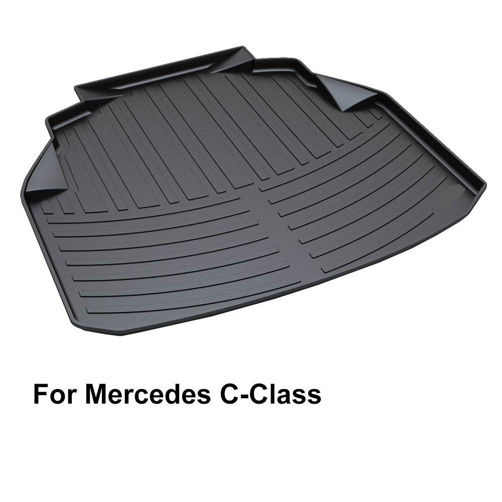 QUEES Custom Fit Cargo Liner Boot Tray Trunk Floor Mat For Mercedes Benz C Class W204 W205