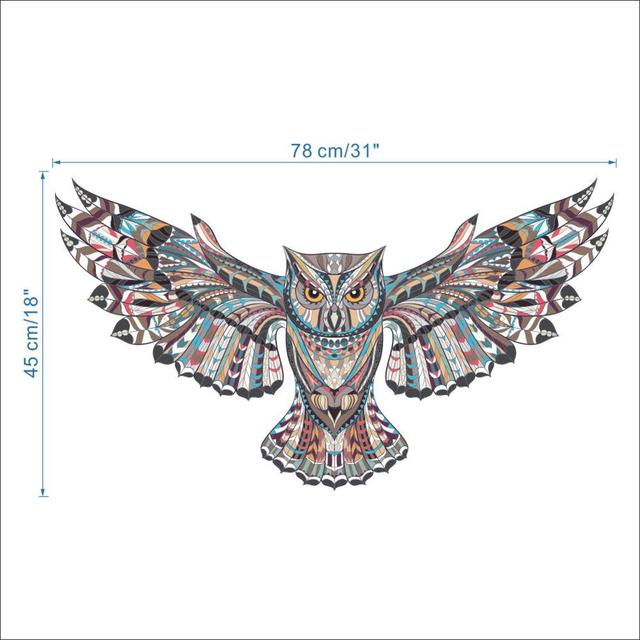 Colorful Owl Spread Winged 45*78 10