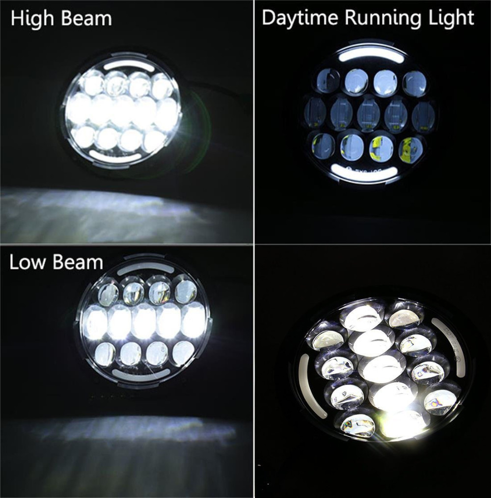 round H4 High Low Beam with Angle Eyes 7 Inch 78W LED DRL Projector Headlight For Jeep Wrangler (7)