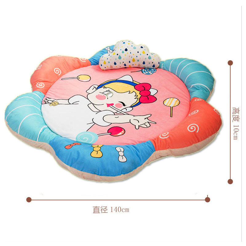 Baby Girl Crawling Game Pad Playmat Protective Winter Cotton Climbing Carpet Home Baby Gym Activity Play Mat Kids Ground Playmat