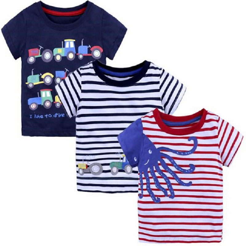 Children 39 s T shirt for boys Clothes for kids Small boy summer T shirts for girls cotton clothing with pictures from 2 6y in T Shirts from Mother amp Kids