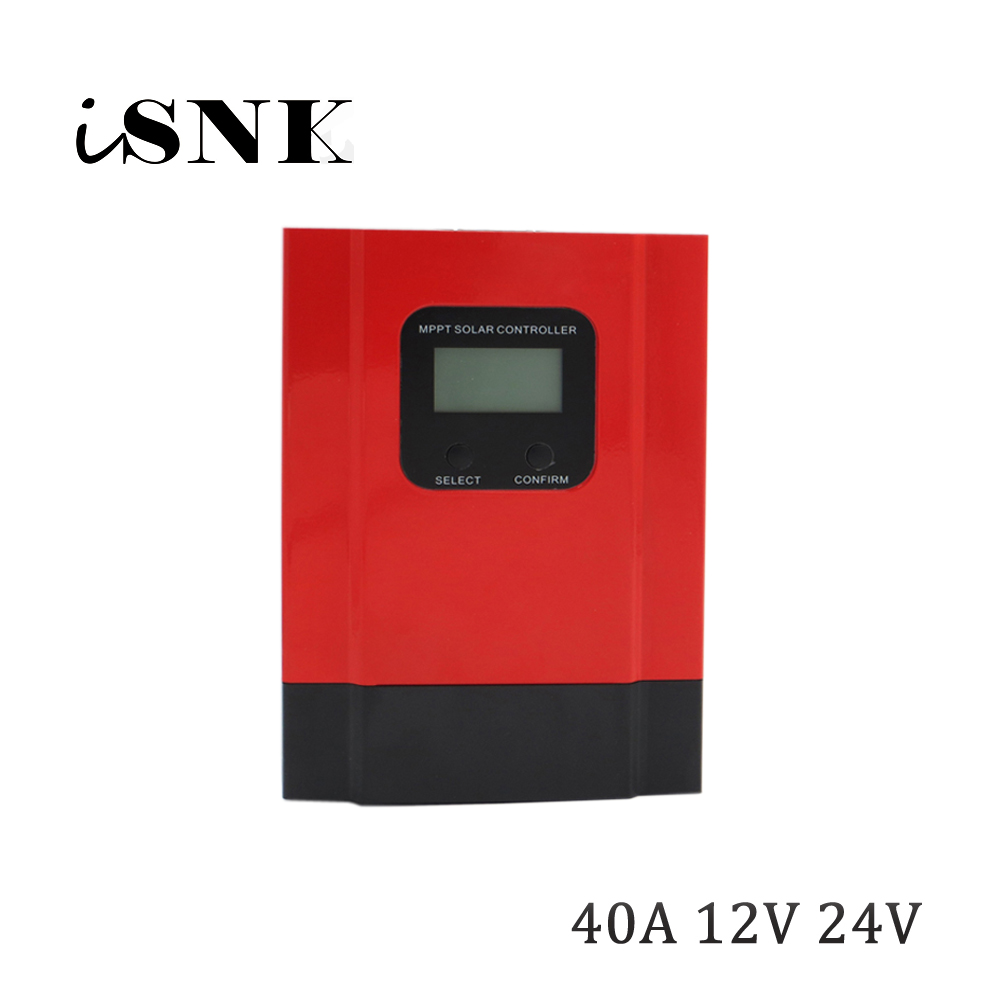 MPPT solar charger 40A 12V/24V 36V 48V LCD display seale AGM GEL Iron li ion lithium battery PWM solar charge controller