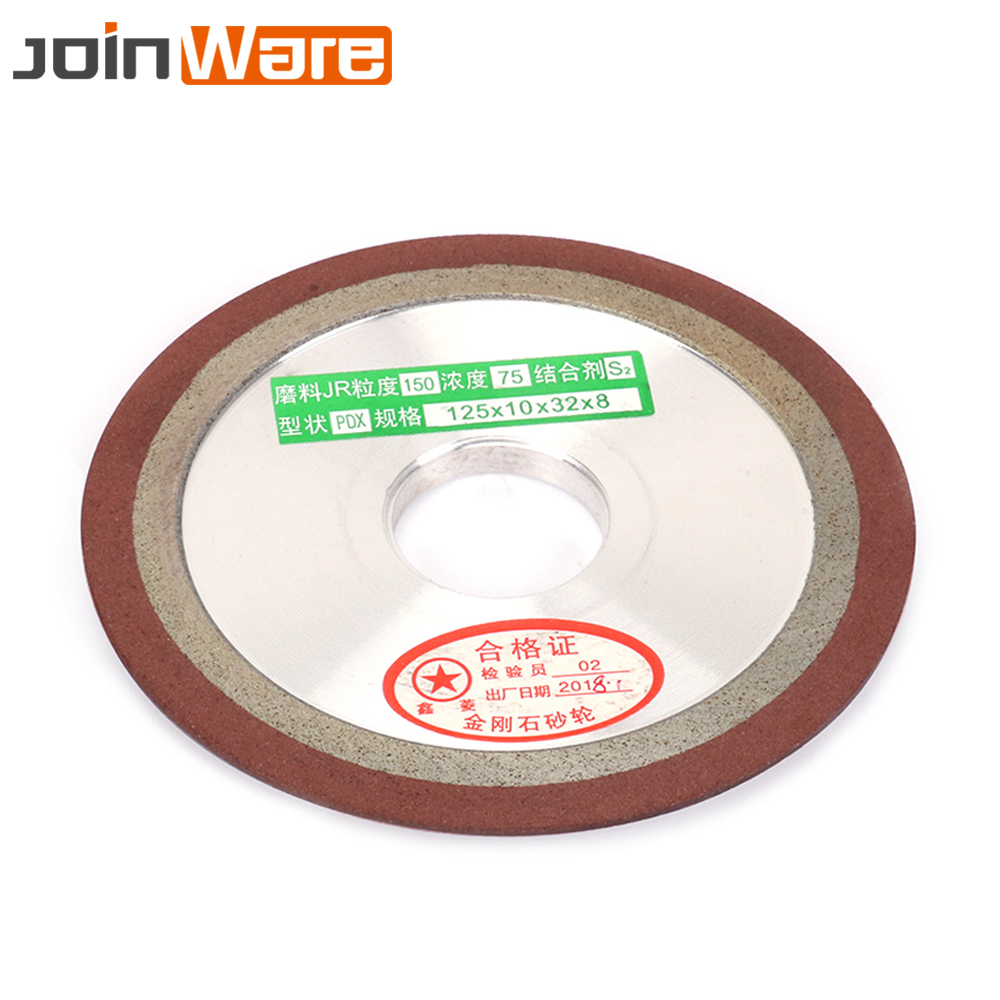 125mm Diamond Grinding Wheel Resin Bond Grinder Circle For Tungsten Steel Milling Cutter Sharpener 150/240/320/400Grit 1Pc 5inch