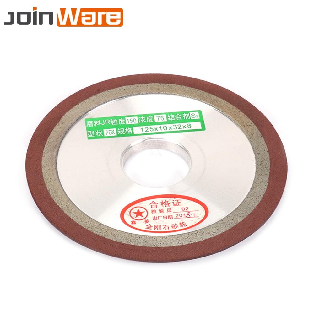 125mm Diamond Grinding Wheel Resin Bond Grinder Circle For Tungsten Steel Milling Cutter Sharpener 150/240/320/400Grit 1Pc 5inch