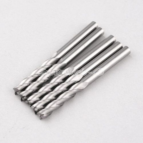 5pcs 6mm 1/4'' Drills Carbide CNC 3 Three Flute Spiral Router Endmill Bits cutter milling tools metal wood CEL 52mm (3Lx6.52x5) 5pcs woodworking 3 flute shank 6mm cnc router bits mill spiral cutter tungsten carbide density board carving tools cel 22mm