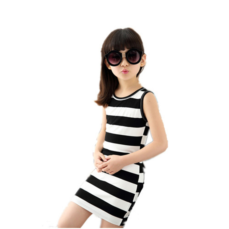 2016 fashion cute Girls Stripe Autumn Summer Girl Dress princess Tutu Dresses For Girl European Style Kids Clothes 5-14 Children автомобильный dvd плеер joyous kd 7 800 480 2 din 4 4 gps navi toyota rav4 4 4 dvd dual core rds wifi 3g