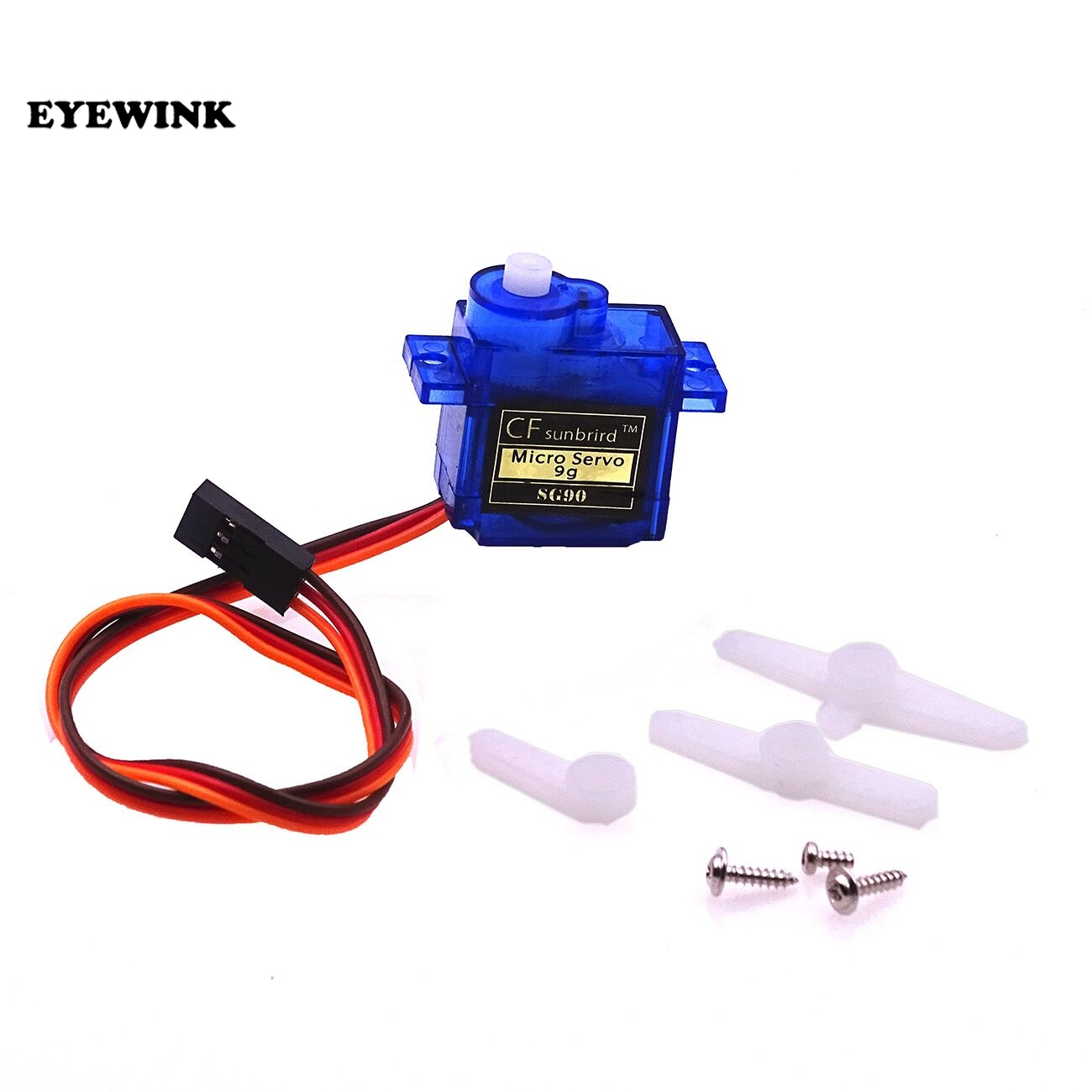 100PCS SG90 9g Mini Micro Servo for RC for RC 250 450 Helicopter Airplane Car Boat