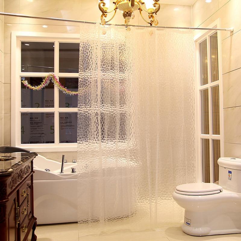 lumiparty impermeabile tende da doccia bagno vasca da bagno trasparente sexy addensare shower curtain 3d cubo