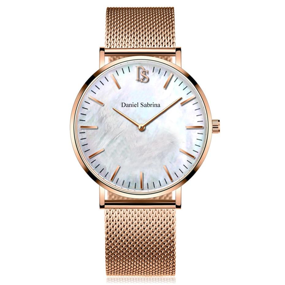 Brand Fashion Women Wristwatches Ladies Dress Watches Clock Casual Quartz Watch Montre Femme Stainless Steel Bracelet