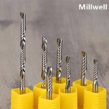 1PCS-FREE SHIPPING CNC solid carbide woodworking router bit,1 flute spiral end mill,mdf,PVC,acrylic,wood engraving tool
