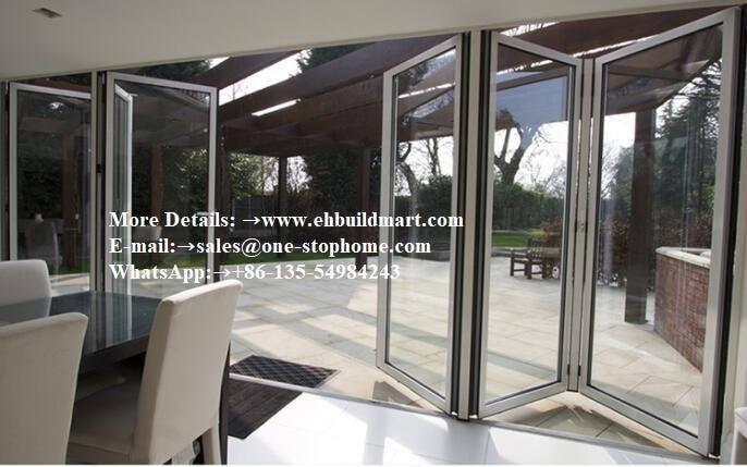 Modern Design Aluminium Heavy Folding Door For House Villa Hotel Project,Cayoe Exterior Glass Folding Door Lowes Bi Folding Door