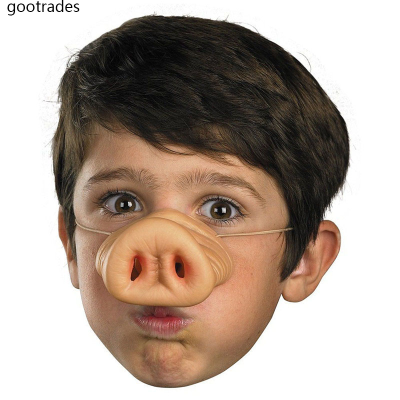 Novelty Silicone Pig Nose Fancy Dress Up Costume Props Party Favor Mask Party