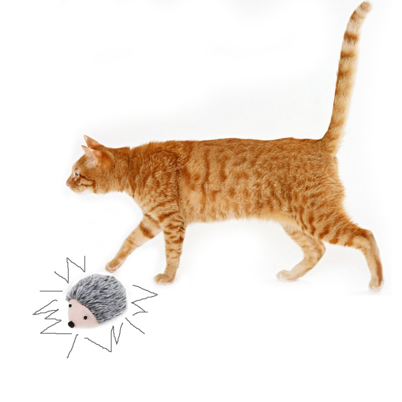 Cat Toys Pulling Chain Shock Shake Interactive Pet Cat Toys Rat Artificial fur 2018 1 pcs