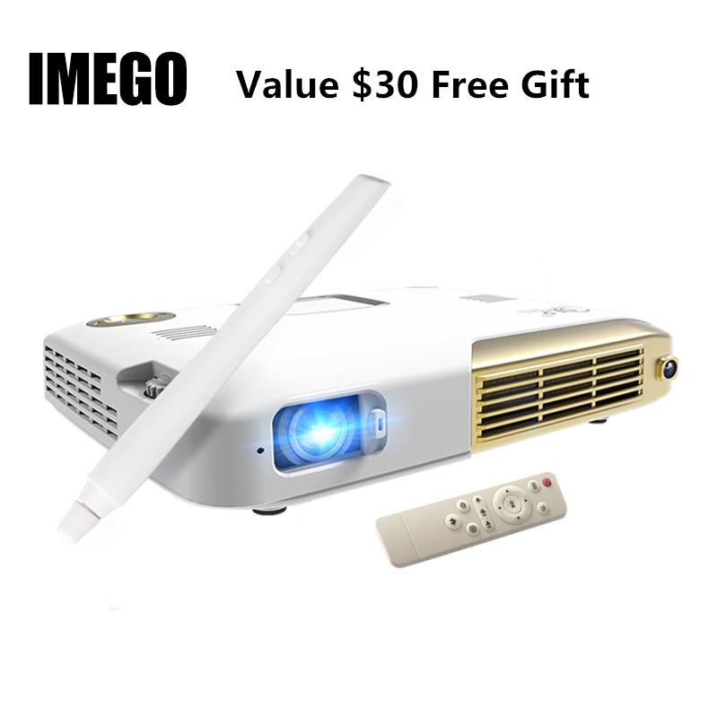 Free shipping 60inch 16 9 portable matt white projection screen simple hd wall mounted projector for Micro mini projector