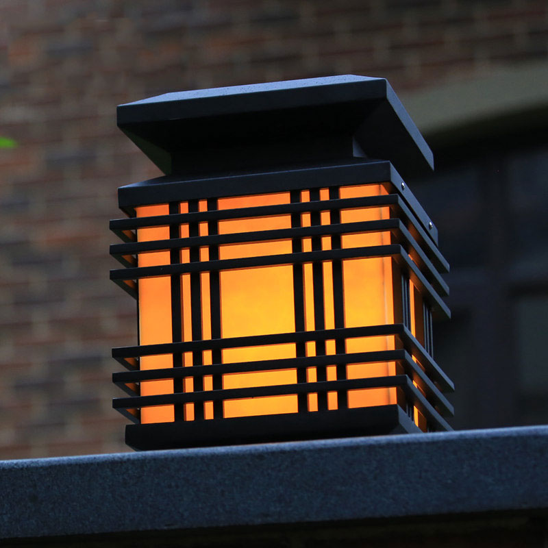 Lamp post waterproof outdoor lighting gazabo pillar lamp for Landscape pillar lighting