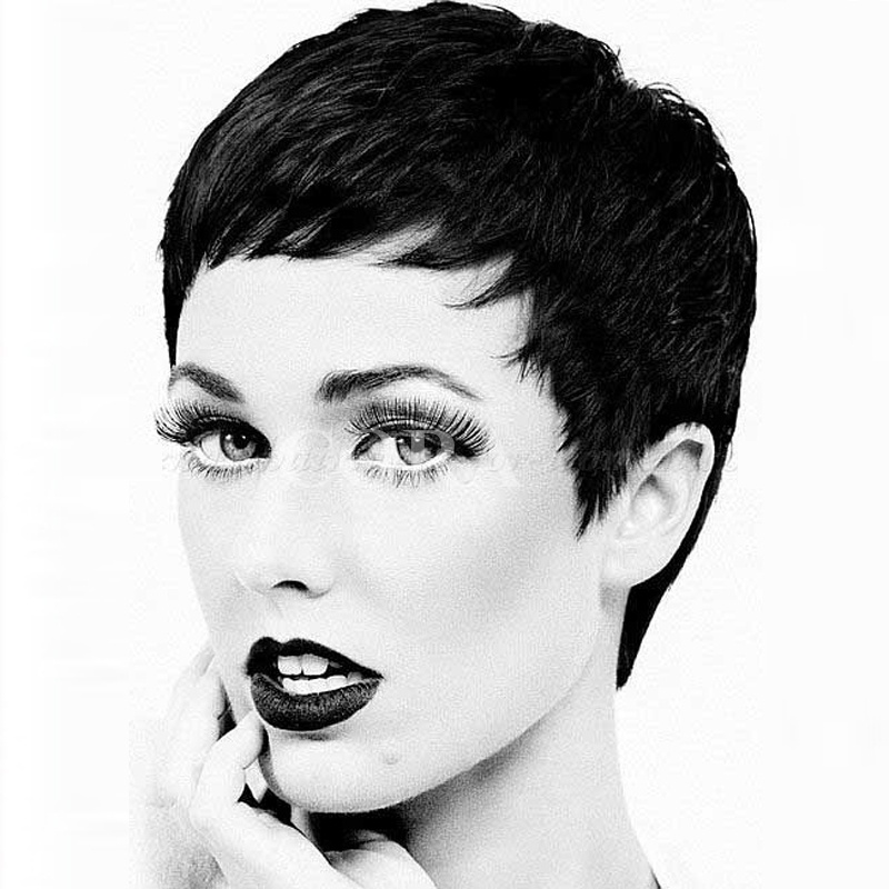 Pixie cut human short hair wig pixie cut human wig human
