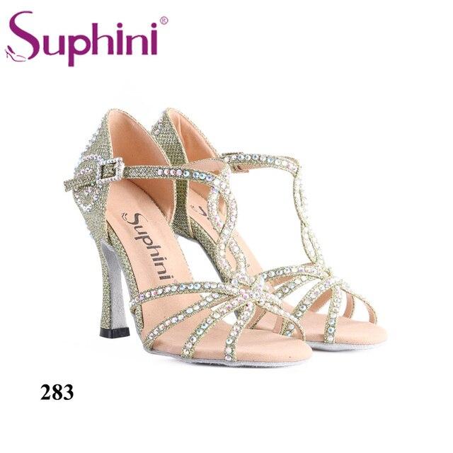 af4525d5f7 Melhor preço Mulher Sapatos de Dança Latina Suphini Verde Glitter ...