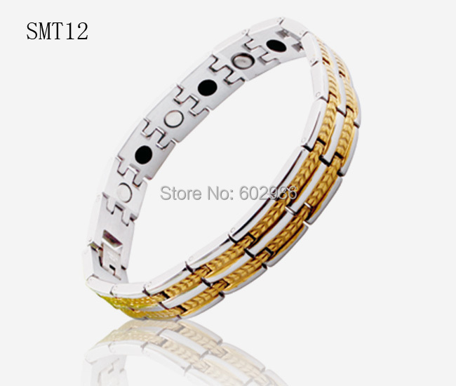 fashion jewery men germanium stainless Steel men's Bracelets&bangles health magnetic titanium gold Women Bracelet - ZZ Jewelry store