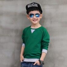 Pioneer Enfants Rouphot Vente Promotion Régulière Solide Coton École Chez Les Adolescentes Garçons T-shirt Outwear Automne À Manches Longues Pour Les Tops Vêtements
