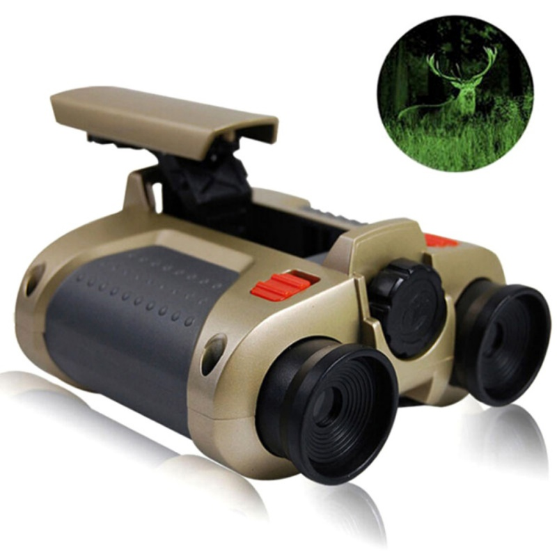 4x30mm Binocular Telescope Pop-up Light Night Vision Scope Binoculars Novelty Green Film Focusing Night Vision Telescope 2 цена