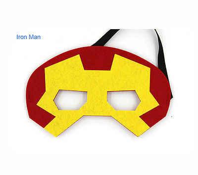 Máscara de super-heróis Cosplay Superman Spiderman Batman Hulk Thor IronMan Princesa do Dia Das Bruxas Natal crianças adulto Trajes Do Partido Máscaras