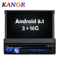 KANOR 7inch Android 8.1 Quad core RAM 2G Single One din Car Radio Player Bluetooth Stereo Sat Nav RDS WIFI Multimedia