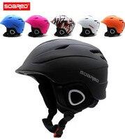 SOARED Ski Helmet Integrally Molded Skiing Helmets Safety Protect Adult Kids Thermal Ultralight Snowboard Skateboard Head