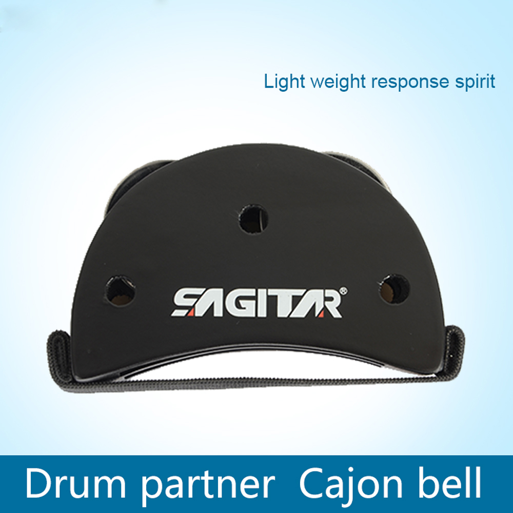 Új ellipszis Cajon doboz dobkészlet láb tamburin partner ütőhangszerek Cajon harang pedál gitár alkatrészek tartozékok dobok