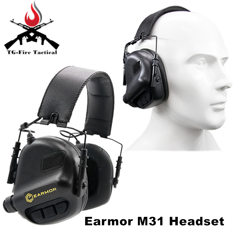 OPSMEN Earmor Tactical Airsoft Headphones M31 Aviation Headset Hearing Protector Sport Earmuff Active Headphones For Shooting