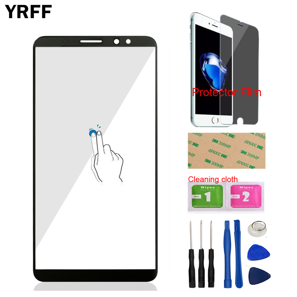Mobile Phone Front Glass For HuaWei Mate 10 Lite (No Touch Screen Digitizer Panel) Front Glass Tools + Protector Film Adhesive