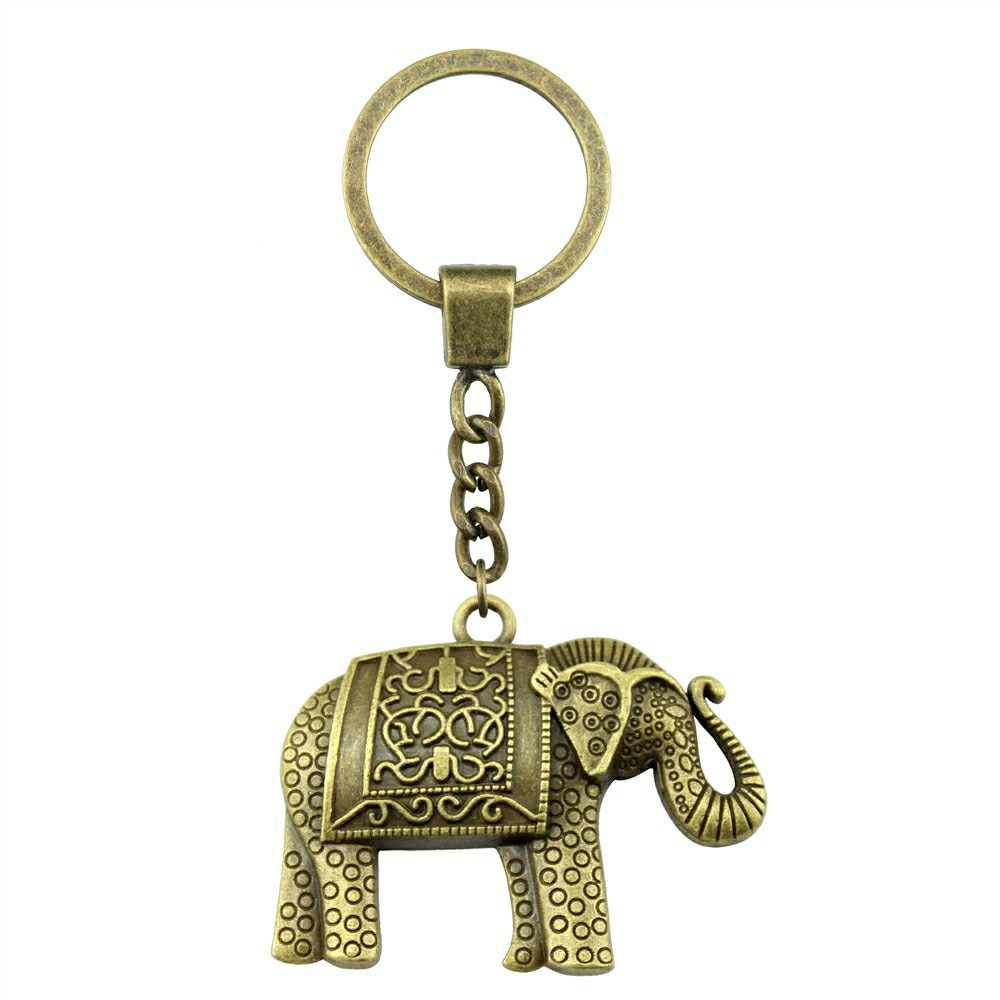 Elephant Ring Decoration Round Double Sided Animal Mix Key Chain Charms For Diy Handmade Gifts in Key Chains from Jewelry Accessories