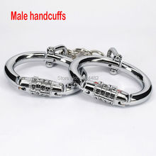 SODANDY Male Handcuffs Steel Wrist Cuffs Bondage Wrist Shackles Sex Games For Couples Hand Lock For Men Sex Slave