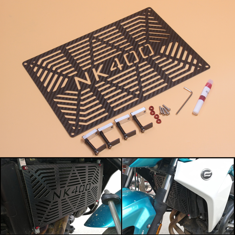 цены FOR CF MOTO NK400 NK 400 400NK 400 NK motorcycle Carbon Fibercn radiator protective cover Guards Radiator Grille Cover Protecter