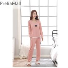 Maternity Nursing Clothing Autumn Winter long sleeve Sleepwear Breastfeeding pajamas sets for Pregnant Women Nightwear D0041