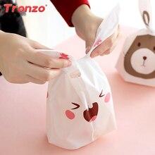 Tronzo Easter Bunny Bag 50pcs Wedding Favors Birthday Party Decorations Kids Plastic Rabbit Ear Bag Easter
