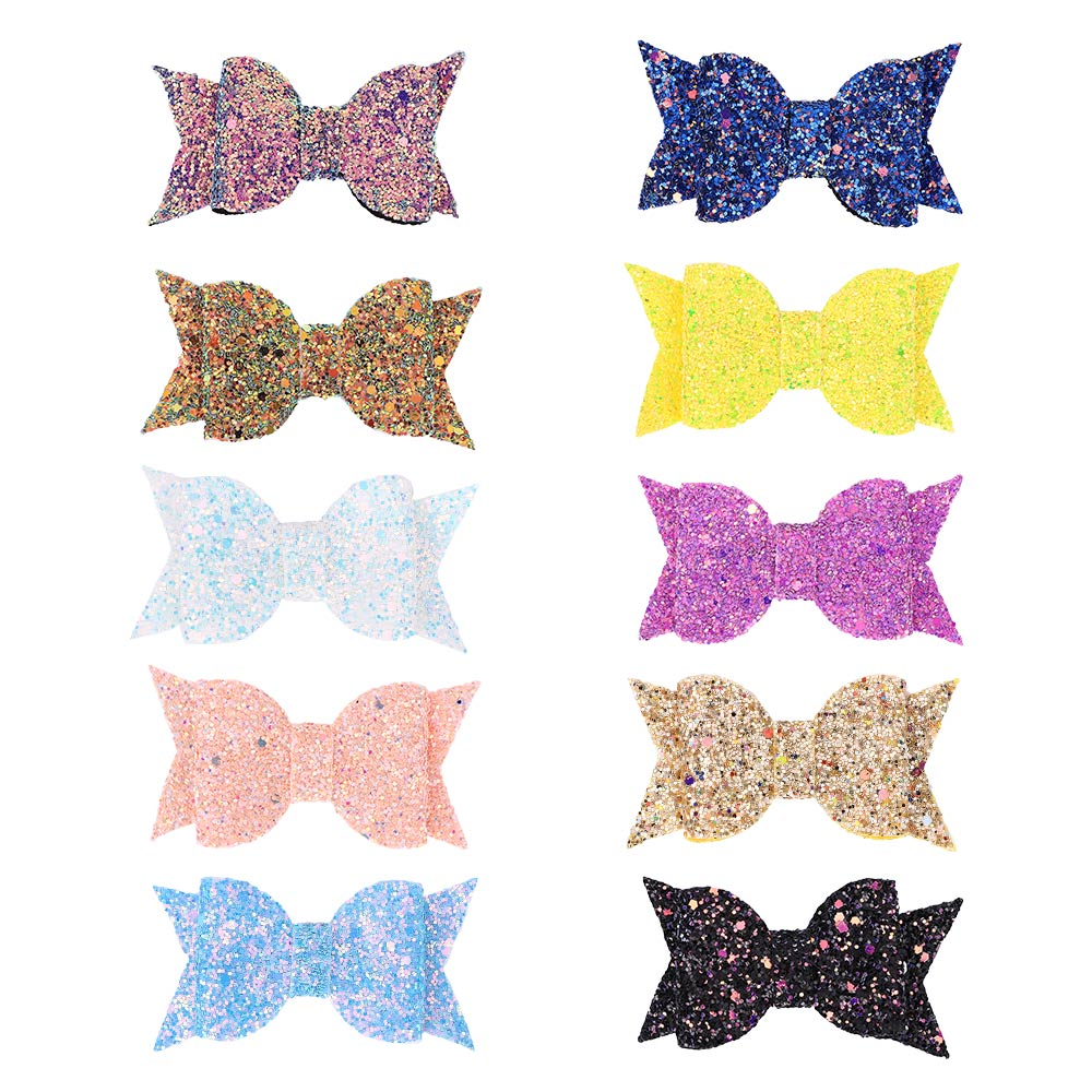 Shiny Bow Hair Clips For Girls Colorful Sweet Glitter Kids Hairpins Bowknot Barette Cheveux Baby Hair Accessories