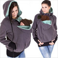 Modelos de explosión de Europa madre Canguro sudadera ropa de bebé de otoño e invierno las mujeres bolsas gruesas Sudaderas Con Capucha calientes MZ1175