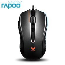 Original Rapoo V300 4000DPI gaming mouse, USB wired black mice,Brand new, No Retail packing,Free shipping