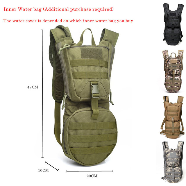 3L Outdoor Backpack Molle Military Tactical Hydrator Pouch Cycling Water Bag Camping Camelback Hiking Nylon Camel Bag Cycling