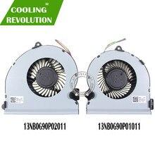 NEW COOLING FAN FOR ASUS GL701 FCN DFS682212M00T FK5B DFS593512MN0T FK5C 13N1-32P0101 13N1-32P0201 COOLER FAN RADIATOR