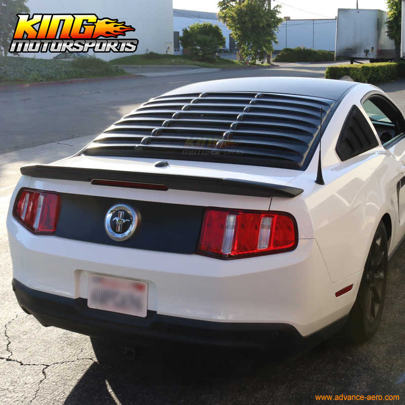 Fits 05-14 Ford Mustang GT V6 V8 Rear Window Louver Matte Black ABS USA  Domestic Free Shipping Hot Selling