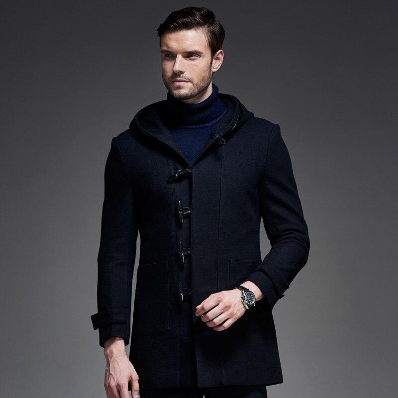 2017 Herbst Winter New Extralange Hörner Tasten Manteau Hiver Epais Homme Slim Fit Elegante Qualitäts-männer Mischung Mantel Und Ein Langes Leben Haben.